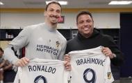 Ibrahimovic mừng ra mặt khi gặp 'Rô béo' ở Mỹ