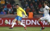 Jesus lập cú đúp, Brazil nhọc nhằn ngược dòng trước CH Séc