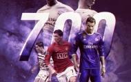Cristiano Ronaldo cán mốc 700 bàn thắng