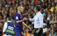 Vì Valverde, Iniesta quay lưng chỉ trích thượng tầng Barcelona