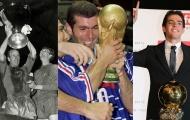 8 cầu thủ từng giành cả World Cup, Champions League và Quả bóng vàng
