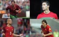 10 cầu thủ có số lần khoác áo ĐT Bồ Đào Nha nhiều nhất: Ronaldo, Nani ở đâu?