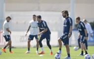 Thầy trò Andrea Pirlo cùng 'nhìn về 1 hướng' trên sân tập của Juventus