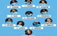 Đội hình Man City xuất sắc nhất kỷ nguyên Premier League: Không có Ederson