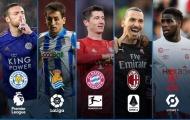 5 cây săn bàn thống trị các giải đấu hàng đầu châu Âu: Bất ngờ La Liga, Ligue 1!
