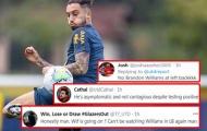 Alex Telles dương tính COVID lần 2, CĐV Man Utd nghĩ đến viễn cảnh thảm họa