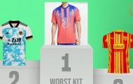 Top 10 áo thứ 3 'thảm họa' nhất 2020/21: Chelsea đứng đầu, Real và Juve góp mặt
