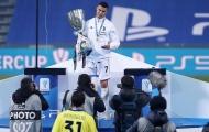 Ronaldo liên tục 'sống ảo' sau khi giành danh hiệu thứ 4 cùng Juve