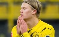 Haaland lẻ loi trong ngày Dortmund đại bại