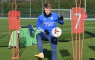 Tân binh Arsenal tập cực sung, sẵn sàng đối đầu Man Utd