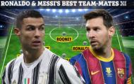 Đội hình 'siêu khủng' với 11 cái tên từng thi đấu cùng Ronaldo hoặc Messi