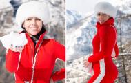 Georgina diện trang phục bó sát gợi cảm giữa mùa đông