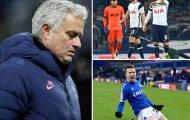 Jose Mourinho tái hiện kỷ lục buồn sau trận đấu điên rồ với Everton