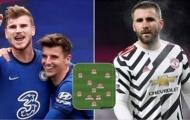Đội hình những ngôi sao bị đánh giá thấp nhất EPL: Bất ngờ Werner, 'siêu hậu vệ' Man Utd góp mặt
