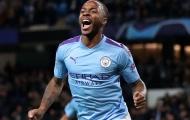 Sterling và Man City thiết lập kỷ lục khủng khi đấu Arsenal