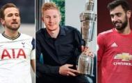 10 ứng cử viên cho giải thưởng cầu thủ xuất sắc nhất PFA: De Bruyne tụt dốc thê thảm, 'tuyệt vời' Bruno