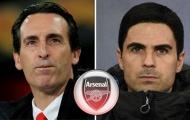 6 thống kê so sánh giữa Unai Emery và Mikel Arteta tại Arsenal