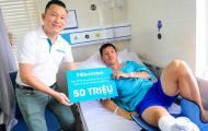 Quỹ Hi S từ Hisense Việt Nam đến thăm, động viên và hỗ trợ tuyển thủ Hùng Dũng 50 triệu đồng