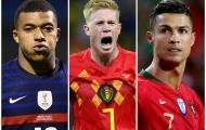 Siêu đội hình ngôi sao dự EURO 2020: De Bruyne hỗ trợ Mbappe và CR7