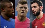 Fernandes, Kroos và Kante: 10 tiền vệ 'hoàn hảo' nhất châu Âu hiện tại