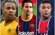 10 sao qua người đỉnh nhất châu Âu: Messi, Mbappe và 6 'cơn gió lạ'
