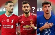 Top 10 tiền vệ đỉnh nhất Premier League mùa này: Số 1 không thể ai khác