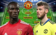 Đội hình Man Utd đấu Roma: De Gea bắt chính, Số 9 đẳng cấp