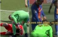 Suarez nằm sân cố giành penalty, Pique hét thẳng vào mặt