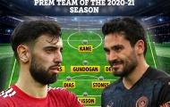 ĐHTB Ngoại hạng Anh 2020/21: Man City thống trị, Man Utd chỉ có 1 cái tên