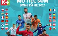 Mở tiệc sớm bóng đá hè trên K+ với loạt trận giao hữu trước thềm UEFA EURO 2020