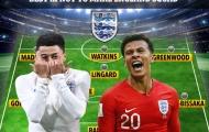 Đội hình 'khủng' với 11 cầu thủ lỗi hẹn cùng ĐT Anh tại EURO 2020