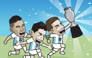 Cười té khói với loạt ảnh chế chung kết Copa America