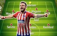 Với Saul Niguez, Man Utd có 3 sự lựa chọn để sắp xếp đội hình