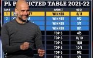 Siêu máy tính dự đoán BXH Premier League 2021/22: Arsenal bật bãi Top 6?