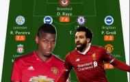 Đội hình tiêu biểu vòng 1 Ngoại hạng Anh: Man Utd góp 3 cái tên