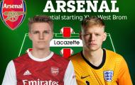 Đội hình Arsenal đấu West Brom: 3 tân binh xuất kích?