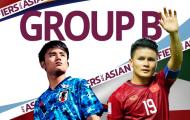 Cục diện bảng B sau lượt 1: Cú sốc Nhật Bản; Việt Nam xếp trên Trung Quốc