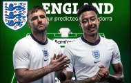Đội hình ĐT Anh đấu Andorra: Bộ đôi Man Utd làm chủ cánh trái?