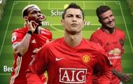 Đội hình kết hợp các huyền thoại 1999 và cầu thủ đương đại Man Utd