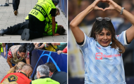 Hy hữu, Ronaldo sút bóng khiến một phụ nữ ngã xuống đất