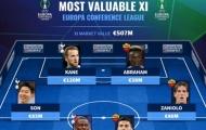 Đội hình Europa Conference League đắt giá nhất: Tottenham áp đảo, quân bài tẩy của Mourinho