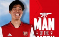 Tomiyasu thể hiện thế nào để được bầu chọn là 'Cầu thủ xuất sắc nhất' trận derby London?