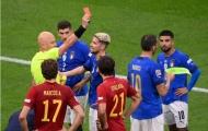 Thủ quân lĩnh thẻ đỏ, Ý thua sát nút Tây Ban Nha
