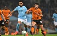 Man City thắng nhọc Wolves trên chấm penalty may rủi