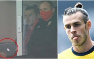 Kệ đồng đội thi đấu, Bale vác máy tính ra xem đánh golf