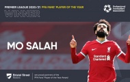 CHÍNH THỨC! Salah nhận giải cầu thủ xuất sắc nhất năm
