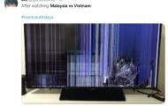 Tivi trở thành 'nạn nhân' của fan Malaysia sau trận thua Việt Nam
