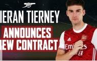 CHÍNH THỨC! Arsenal gia hạn 5 năm với Kieran Tierney