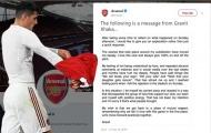 NÓNG: Xhaka đăng đàn giải thích lý do nổi khùng và xin lỗi NHM Arsenal