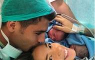 Morata viết tâm thư xúc động chào đón cặp song sinh